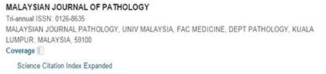 M'sia Journal of Pathology