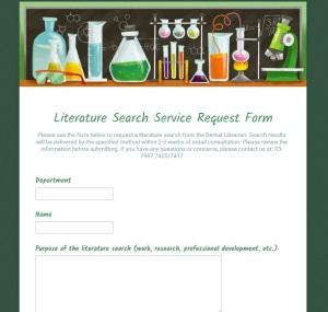 Literature Search Service Request Form